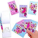 German-Trendseller ® 3 x mini bloc-notes avec motifs de chevaux┃petites carnets┃ l'anniversaire d'enfant┃idée cadeau ┃ 12 pcs