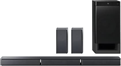 Sony HT-RT3 5.1-Kanal Soundbar (600 W Ausgangsleistung, NFC, Bluetooth, Dolby Digital, HDMI, USB, optischer Digitaleingang incl. Subwoofer und Rear Lautsprecher) schwarz