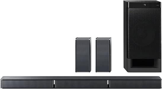 Sony HT-RT3 - Sistema Home Cinema 5.1 Soundbar + Subwoofer + 2 Speaker posteriori, USB, NFC, Bluetooth, ClearAudio+, 600W, Nero