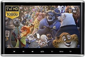 10,1 Zoll Auto Kopfstütze DVD-Player 1080 P Full HD LCD Bildschirm, DVD/USB / SD/HDMI / AV-in & AV-Out FM Digital Touch-Taste mit IR-Kopfhörer von