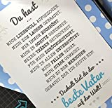 IHR HABT MICH AUFGEZOGEN - BESTE ELTERN / MUTTER / VATER Kunstdruck mit origineller persönlicher Danksagung - perfektes Geschenk zum Geburtstag Hochzeitstag Jahrestag - Rahmen optional zubuchbar -