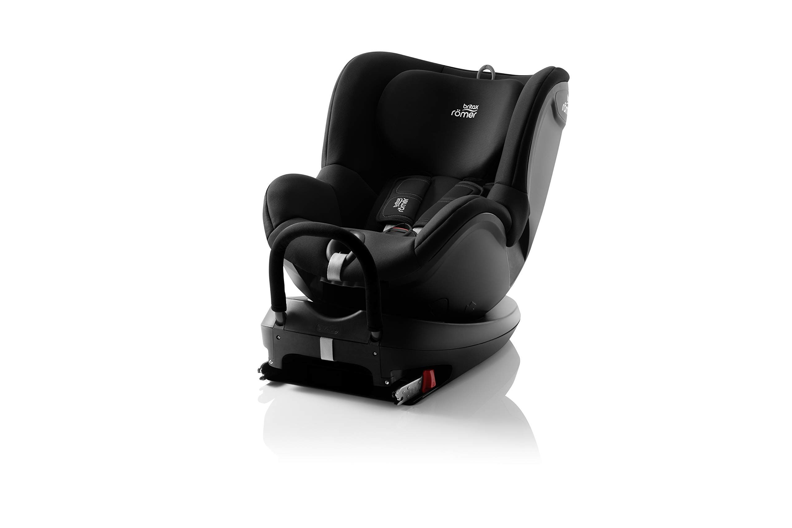 Britax Römer DUALFIX² R Group 0+1 (Birth-18 kg) Car Seat, Cosmos Black Britax Römer Intuitive 360° rotation for rearward and forward facing usage Easy entry with 90 degree rotation to the open door for easy placement of the child Extended rearward facing travel with more leg space thanks to shorter rebound bar 1