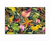 deinebilder24 - Foto auf Leinwand - 70 x 110 cm - Blumen abstrakt gemalt bunt