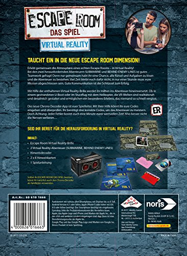 Noris Spiele 606101666 Escape Room Virtual Reality Inkl. Brille