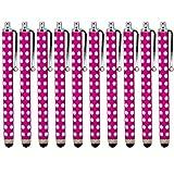 ONX3 ® Blackberry Z3 Polka capacitiva di alluminio dello stilo della penna di tocco (10 pezzi) (Hot Pink)
