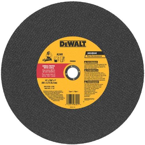 DEWALT DW8001 General Purpose Chop Saw Wheel, 14-Inch X 7/64-Inch X 1-Inch by DEWALT