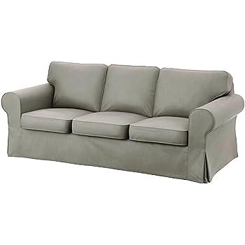 Soferia ikea ektorp fodera per divano letto a 3 posti glam beige casa e cucina - Copridivano ektorp 3 posti letto ...