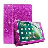 Coque iPad 2/3/4,FANSONG Briller Style Backcover Magnétique Ultra Mince PU Cuir Bling Bling Smart Cover [Support à Rabat, Fonction de Veille] Couverture Intelligente pour Apple iPad 2,iPad 3,iPad 4