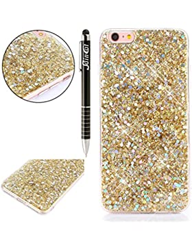 Custodia iPhone 7, iPhone 7 Cover Glitter, SainCat Cover per iPhone 7 Custodia Silicone Morbido, Custodia Bling...