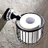 NAERFB Kupfer Continental Sanitär Klopapierrolle Kreative Toilettenpapierhalter Pumpen Toilettenpapier WC-Papier Lagerung Verpackung der Druckpatrone (Farbe: Antik Schwarz)
