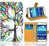 Samsung Galaxy Grand Neo Plus Funda, FoneExpert® Wallet Flip Billetera Carcasa Caso Cover Case Funda de Cuero Para Samsung Galaxy Grand Neo Plus i9060 / Galaxy Grand Neo (Pattern 5)