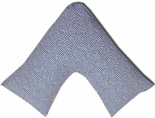 JaaZ Textile 100% algodón percal _ patrón 7_ impreso V forma de almohada casos ideal para espalda...