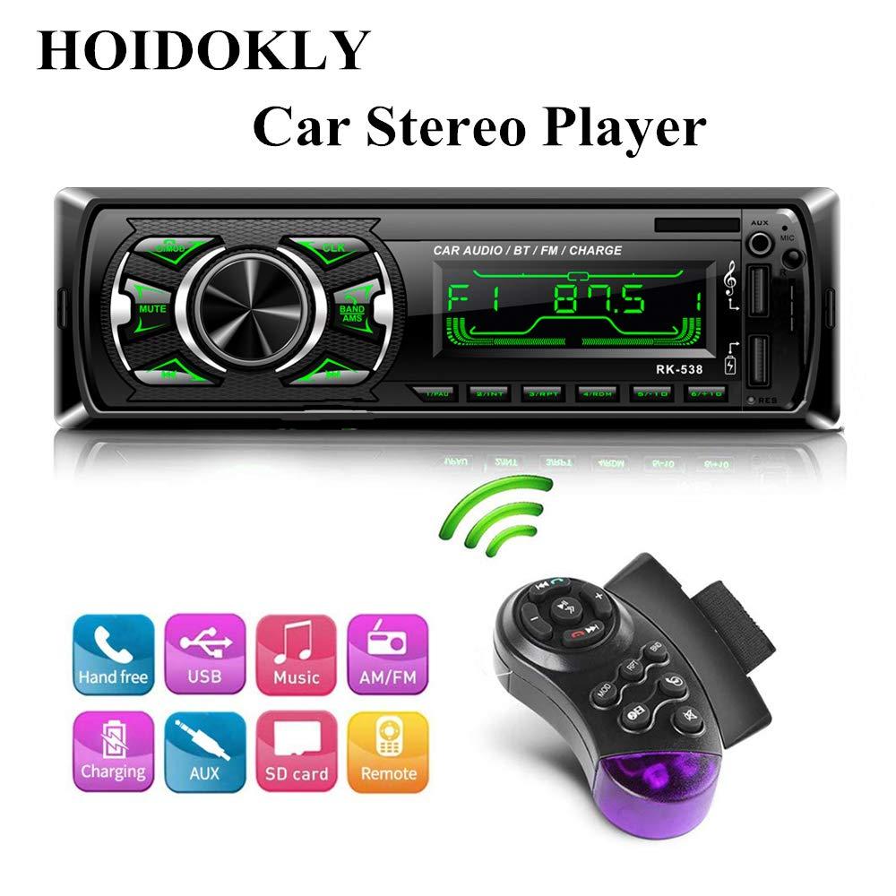 AUTORADIO STEREO AUTO BLUETOOTH CON TELECOMANDO LETTORE LCD SD MP3 USB RADIO