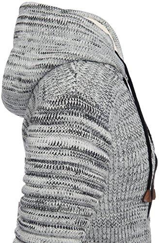 Karl's People Herren Kapuzen Pullover mit Reißverschluss und Kängurutasche in verschieden Farben K-116 Grey