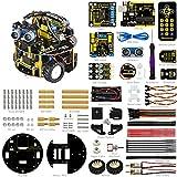keyestudio pequeña tortuga robot para Arduino Uno R3 proyecto Smart Car Kit cuatro modelo STEM Education (incluye un libro de usuario)