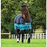Horseware Amigo Mio Turnout Medium 200g Füllung Black & Turquoise Weidedecke Winterdecke 115-160 (145)