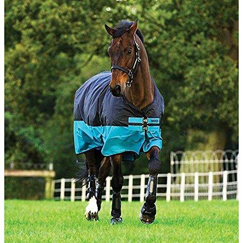 Horseware Amigo Mio Turnout Medium 200g Füllung Black & Turquoise Weidedecke Winterdecke 115-160 (140)