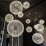 LED-Ball von Feuer Werke post-moderne Deckenleuchte/creative Kronleuchter Lounge Die Zimmer im Hotel Restaurant Haus der Badezimmer Kronleuchter Beleuchtung (Farbe: 50-cm-warmes Licht)