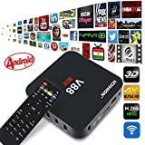 EMISH Android tv box Rockchip 3229 Quad-Core(1.5GHZ) Android 5.1 1G/8G 4K H.265 64BIT Kodi 16.1 Preinstalado DLNA Miracast Wifi LAN Google Reproductor Multimedia Streaming Smart TV BOX