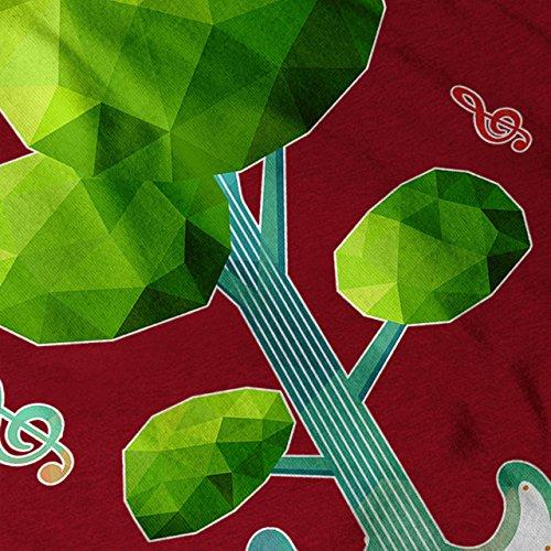 Bass Gitarre Natur Musik Musical Hinweis Damen Schwarz S-2XL Muskelshirt | Wellcoda Rot