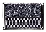 CarFashion 258282 PUR|DualClean – Fussmatte | Türmatte | Fußabtreter | Schmutzfangmatte | Sauberlaufmatte | Eingangsmatte | für Innen und Aussen | Anthrazit-Metallic Oberfläche | Scraper-Noppen mit Textilbelag | Größe ca. 59 x 39 cm