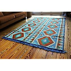 200 cm X 135 cm Alfombra Oriental, Kelim, Kilim, Carpet,Manta al Suelo , Rug nuevo de Damaskunst S 1-4-71