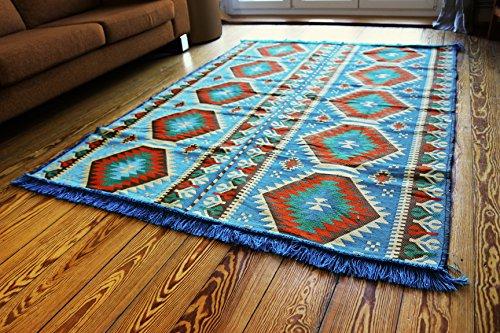 200 x 135 cm tappeto orientale, corridore,kilim, coperta, carpet, tappetino, pavimenti, rug, arazzo, nuovo damaskunst s 1-4-71