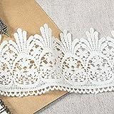 Weiß 3Yard Lovely Daisy Baumwolle gehäkelt Spitze Kostüme suppiles 7,6cm Breite