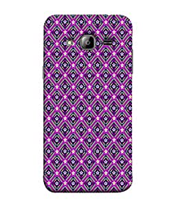 PrintVisa Designer Back Case Cover for Samsung Galaxy On5 (2015) :: Samsung Galaxy On 5 G500Fy (2015) (Pattern Checks Black Grey Diamonds)