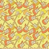 ABAKUHAUS Gitarre Stoff als Meterware, Teenager Spaß