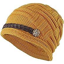 Vellette Gorros de punto Sombreros y gorras Crochet las mujeres del  invierno gorro de lana Tejer a435b32c795