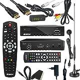Edision proton T265 Full HD Hybrid DVB-T2 Kabel-Receiver FTA HDTV DVB-C/DVB-T2 H.265 HEVC Komplettset
