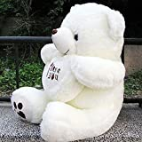 VERCART knuddeliger Plüschtiere Plüsch Teddybär xxl ich liebe dich teddy Teddybär-Spielzeug-Puppe mit Mark Ich liebe dich