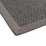 BODENMEISTER Teppich Sisal-Optik Flachgewebe modern hochwertige Bordüre, Größen, Variante: hell-grau, 80x150