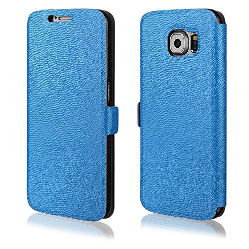 """Elegantes Bookstyle Handytasche Flip Case für \""""Samsung Galaxy J5\"""" Handy Schutz Hülle Etui Schale Cover Book Case blau"""