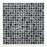 Piastrelle Mosaico Vetro Mosaico Mosaico Piastrelle Bagno Crystal acciaio nero 8mm nuovo # 472
