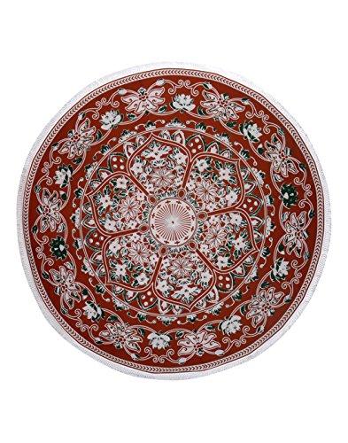 dekorativ-wandbehang-traditionelle-baumwolle-indien-braun-roundie-rund-tapestry-floral-von-rajrang