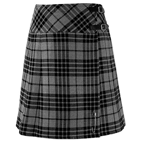 Tartanista - Damen Scottish Highland-Kilt - 51 cm KnieLänge - Grünit - EU52