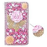 SpritechTM 3D spooff Soko color rosa diseño piel sintética con tapa tarjetas función atril, Color-66, Samsung Galaxy S5 Mini