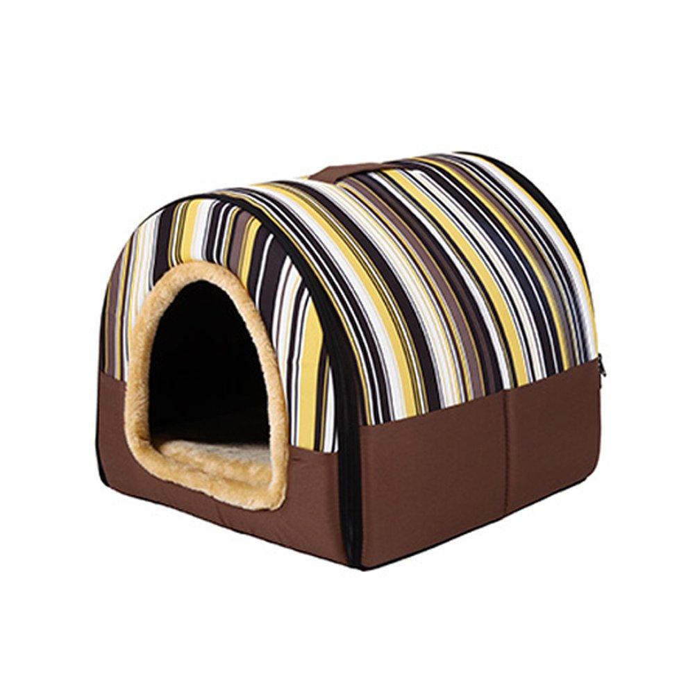 Yimidear Cuccia per animale domestico Cane o Gatto in stoffa, lavabile con cuscino molto soffice