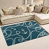 ingbags Super Weich Moderner Anker, ein Wohnzimmer Teppiche Teppich Schlafzimmer Teppich für Kinder Play massiv Home Decorator Boden Teppich und Teppiche 152,4x 99,1cm