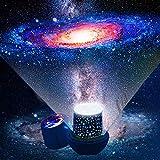 Proiettore stelle bambini - lampada proiettore bambini con cavo USB, lampada proiettore cielo stellato Rotazione di 360 gradi lampada proiettore stelle luce notturna per bambini