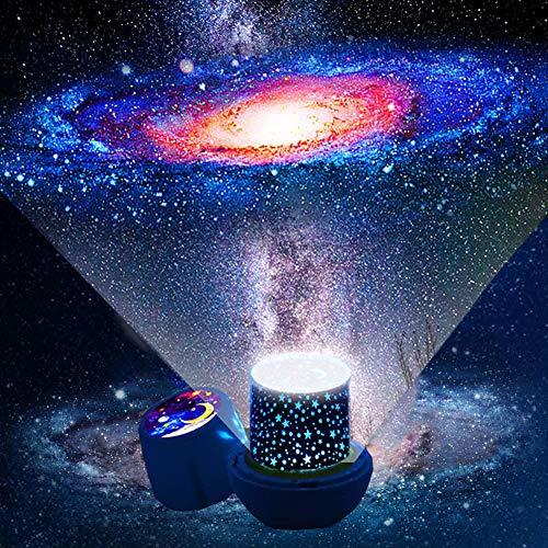 Kinder Nachtlicht Sternenhimmel Projektor - 360-Grad Drehung LED Sternenprojektor Baby, Kinder Nachtlampe Sternenhimmel Sternenlicht Projektor Baby Geschenke für Kinder - 7 Filmsets (Projektor 1)
