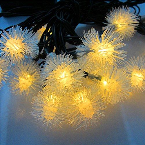 OnePine LED Leiste LED Stripes LED Solar Lichterkette,4.8m/15.7ft 20 LEDs Wasserdicht Solarbetrieben Deko Licht [Energieklasse A+++] (Warmes Weiß)