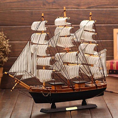 K&C hoch in der Diamant-Schiff von hohen Holzmodell Schiffsmodell 30 cm Detaillierte weiße Holzboot Passat Modell Bausatz Piratenschiff