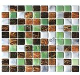 crystiles schälen und Stick selbstklebend DIY Duett Aufklebbares Vinyl Wand Fliesen Für Küche und Badezimmer Décor Projekte, genarbte Glitzer Stein, Artikel # 91010849, 25,4x 25,4cm, je 6Blatt Pack