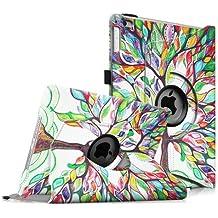 Fintie iPad mini 1 / 2 / 3 Funda - Giratoria 360 grados Smart Case Funda Carcasa con Función y Auto-Sueño / Estela para Apple iPad mini 1 2 3, Love Tree