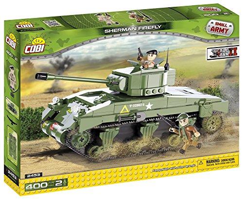 Small-Army-2453-WW-II-US-Army-Medium-Tank-M4A4-Sherman-Firefly-400-building-bricks-by-Cobi