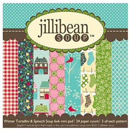 jillibean-soup Winter deliktrechts/Spinat Papier Pad Scrapbooking Supplies
