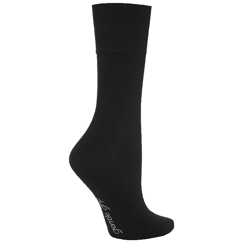 3 Pairs Mens Plain White Gentle Grip Everyday Cotton Socks UK Size 6-11